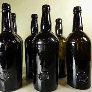 Set of  'inner temple' wine bottles