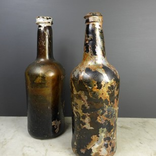 Pair of wine bottles c 1800