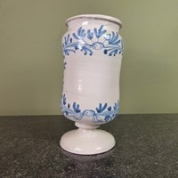 18th c delft apothecary jar