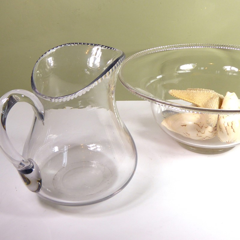 Large 19th c glass bowl & jug-mytton-antiques-bowl4-main-637018281250504795.JPG