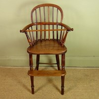 Early 19th c childs high chair