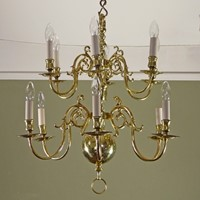 19th c brass centre light