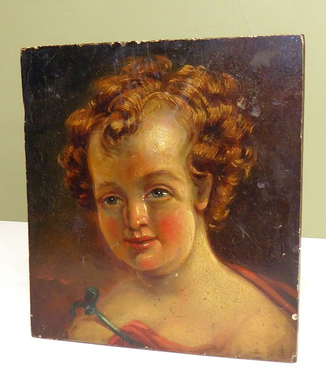 18C oil on panel of a cherub-mytton-antiques-cherub1-main-636658744216311152.JPG