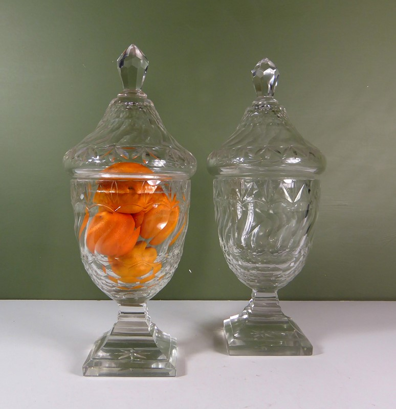 Pair of 19th c glass vases & covers-mytton-antiques-jars-main-637420028126052856.JPG