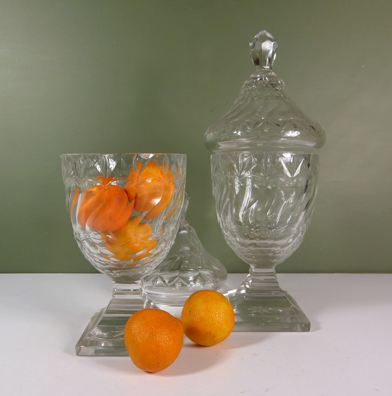 Pair of 19th c glass vases & covers-mytton-antiques-jars1-main-637420028550269876.JPG