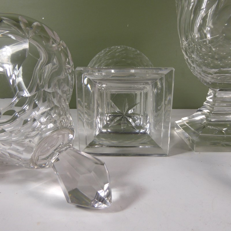 Pair of 19th c glass vases & covers-mytton-antiques-jars3-main-637420028590582136.JPG