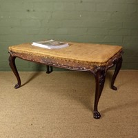 Large 19th c rosewood centre stool