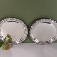 Pair of regency silver salvers, 1814