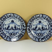 Pair of early delft chargers c 1700