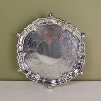 Early 18th c silver salver
