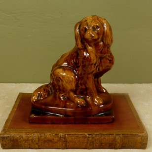 19th c treacle glaze spaniel