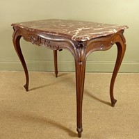 Marble top centre table