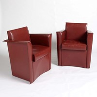 Matteo Grassi leather tub chairs