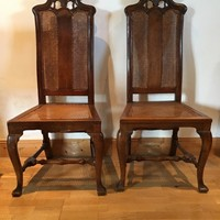 William and Mary pair of chairs 1700