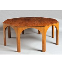 Walnut Octagonal Table, 1956
