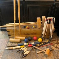 Circa 1930 A Slazenger Croquet Set for 4