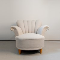 Circa 1950's French Petal Back chair