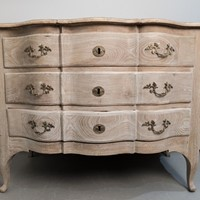 A 18th Century Swedish Serpentine Oak Commode