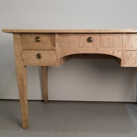 Swedish Birch Desk with key c1920s
