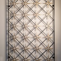 Circa 1930 A French Iron and Gilt Sun Panel (3)