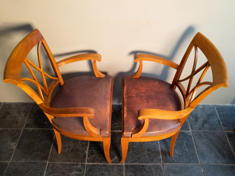 Ten Fruitwood Dining Chairs in Leather C.1930-nick-jones-img-20200524-104640-main-637299756433415575.jpg