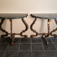 A Pair of  Console Tables by Gilbert Poillerat