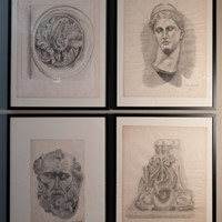 Set of 10 19th Century Classical Drawings