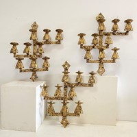 C1950 3 Huge Spanish Mid Century Sconces