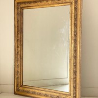 C1870 A Large Gilt Mercury Silvered Mirror