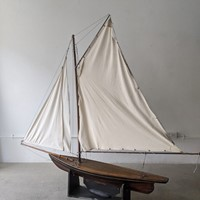C1920 A Large Wooden Pond Yacht