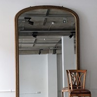 C1870 A Large Gilt English Mercury Mirror