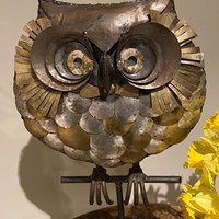 C1960 A Mid Century Metal Sculpture of an Owl