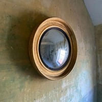 A 19th Century Gilt Convex Mirror
