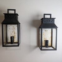 C.1930 A Pair of Tole Wall Lanterns