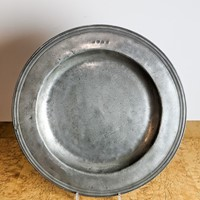 C1800 A Large Pewter Charger