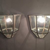 C1930 A Large Pair of metal Wall Lanterns