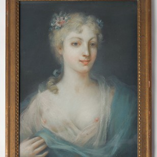 19th Century French pastel