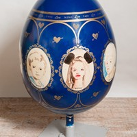 Giant egg, artist Annie Kevans. The big egg hunt