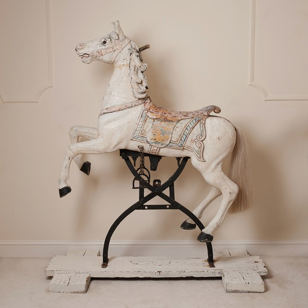 Rare antique carousel horse on original rocker -nikki-page-antiques-NPNov2_41_main.jpg