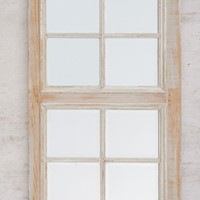 Antique French door /panel, original bevelled edge