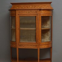 Low Edwardian Inlaid Display Cabinet