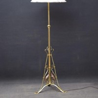 Art Nouveau Brass and Copper Floor Lamp