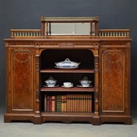 Victorian Amboyna Bookcase by Gillow & Co