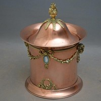 Late Victorian Copper Coal Bin