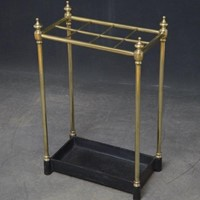Late Victorian Brass Umbrella Stand