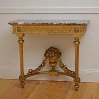 Turn of the Century Giltwood Console Table