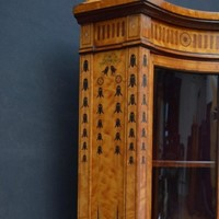 Exceptional Satinwood Cabinet by Maple & Co