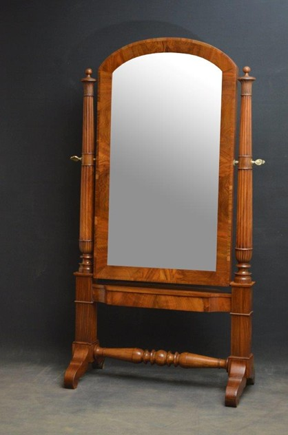 Exceptional Continental Olivewood Cheval Mirror-nimbus-antiques-1_main-66-9.jpg