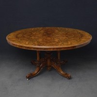 Victorian Burr Walnut Dining Table