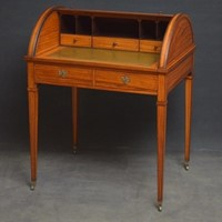 Superb Sheraton Revival Satinwood Desk